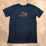 "Camiseta The Rocks ""Rose"" Azul Marinho"