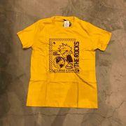 """Camiseta The Rocks """"Sad World"""" Amarela"""