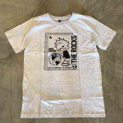 "Camiseta The Rocks ""Sad World"" Cinza Claro"