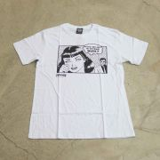 "Camiseta Thrasher ""Cartoon"" Branca"