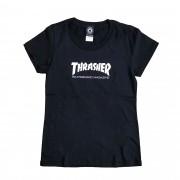 "Camiseta Thrasher Feminina ""Logo"" Preta"