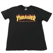 """Camiseta Thrasher """"Flame"""" Preta"""