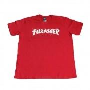 """Camiseta Thrasher """"Godzila"""" Vermelha"""