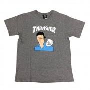 "Camiseta Thrasher ""Gonz Cover Heliconia"" Cinza"