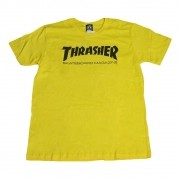 """Camiseta Thrasher """"Logo"""" Amarela"""