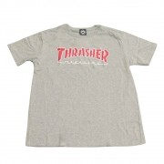 "Camiseta Thrasher ""Outlined Logo"" Cinza"