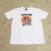 "Camiseta Thrasher ""Pushead"" Branca"