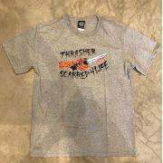"Camiseta Thrasher ""Scarred"" Cinza"