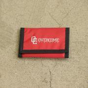 """Carteira Overcome """"Logo"""" Vermelha"""