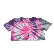 "Cropped Overcome ""Smile For Haters"" Tie Dye (Rosa/Roxo/Branco)"
