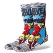 "Meia Stance ""iron Man Comic"" Grey"