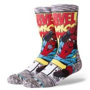 "Meia Stance ""Spiderman Comic"" Grey"