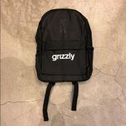 """Mochila Grizzly """"OG Logo"""" Preta"""