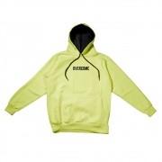 "Moletom Overcome Canguru ""Logo Box"" Verde Neon"