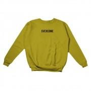 """Moletom Overcome Careca """"Logo Box"""" Amarelo"""