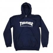 "Moletom Thrasher Canguru ""Logo"" Azul Marinho"