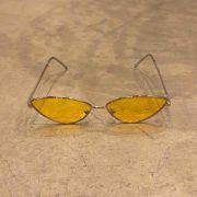 """Óculos Vintage """"Cat"""" Prata/Amarelo"""