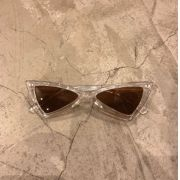 "Óculos Vintage ""Dope Cat"" Transparente/Marrom"