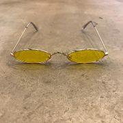 """Óculos Vintage """"Jazzy"""" Dourado/Amarelo"""