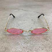 """Óculos Vintage """"Jazzy"""" Dourado/Rosa"""