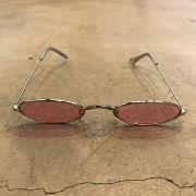 """Óculos Vintage """"Jazzy"""" Prata/Rosa"""