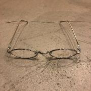 """Óculos Vintage """"Jazzy"""" Prata/Transparente"""