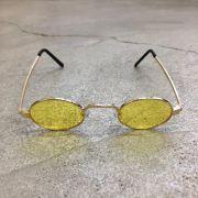 """Óculos Vintage """"JLennon"""" Dourado/Amarelo"""