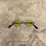 "Óculos Vintage ""JLennon"" Prata/Amarelo"