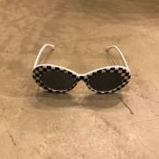"""Óculos Vintage """"KC"""" Quadriculado"""