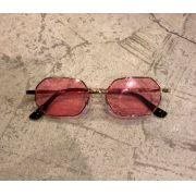 """Óculos Vintage """"Lord Have"""" Dourado/Rosa"""