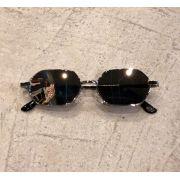 """Óculos Vintage """"Lord Have"""" Prata/Espelhado"""