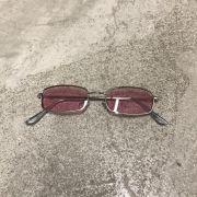 "Óculos Vintage ""Russian Killer"" Prata/Rosa"