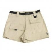"Shorts Overcome Feminino Cargo ""Logo"" Bege"