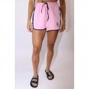 "Shorts Overcome Feminino ""Strip"" Rosa"