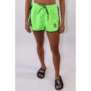 "Shorts Overcome Feminino ""Strip"" Verde"