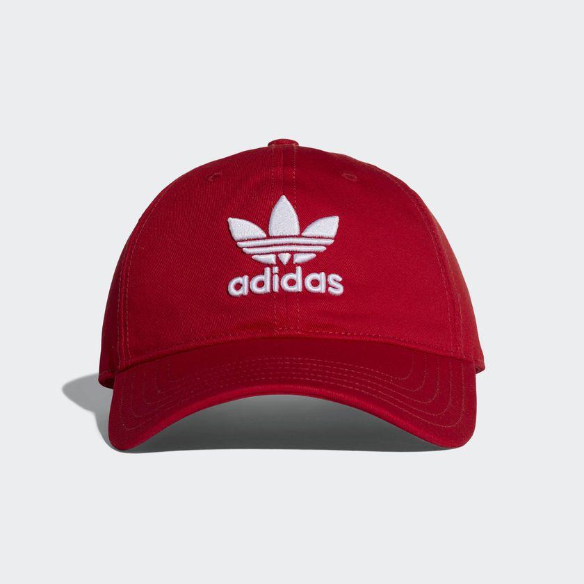 Boné Adidas Originals Trefoil Vermelho - Overcome Clothing 390060cb11b