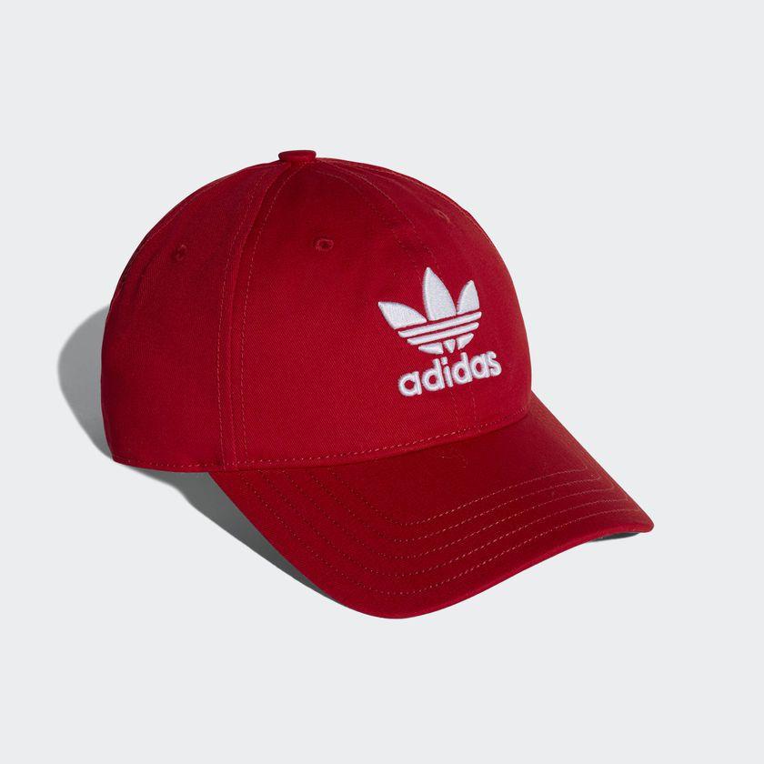 bcbf0da49974b Boné Adidas Originals Trefoil Vermelho - Overcome Clothing