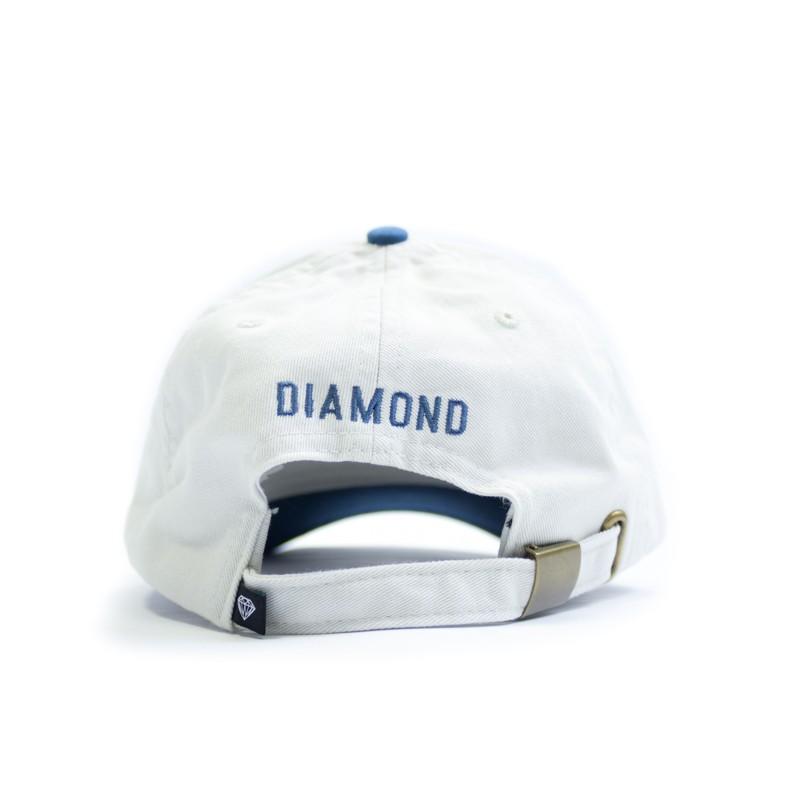 """Boné Dad Hat Diamond """"Un Polo"""" Creme/Azul"""