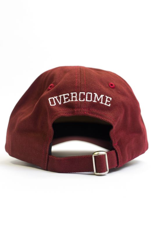 "Dad Hat Overcome ""Logo"" Bordô/Branco"