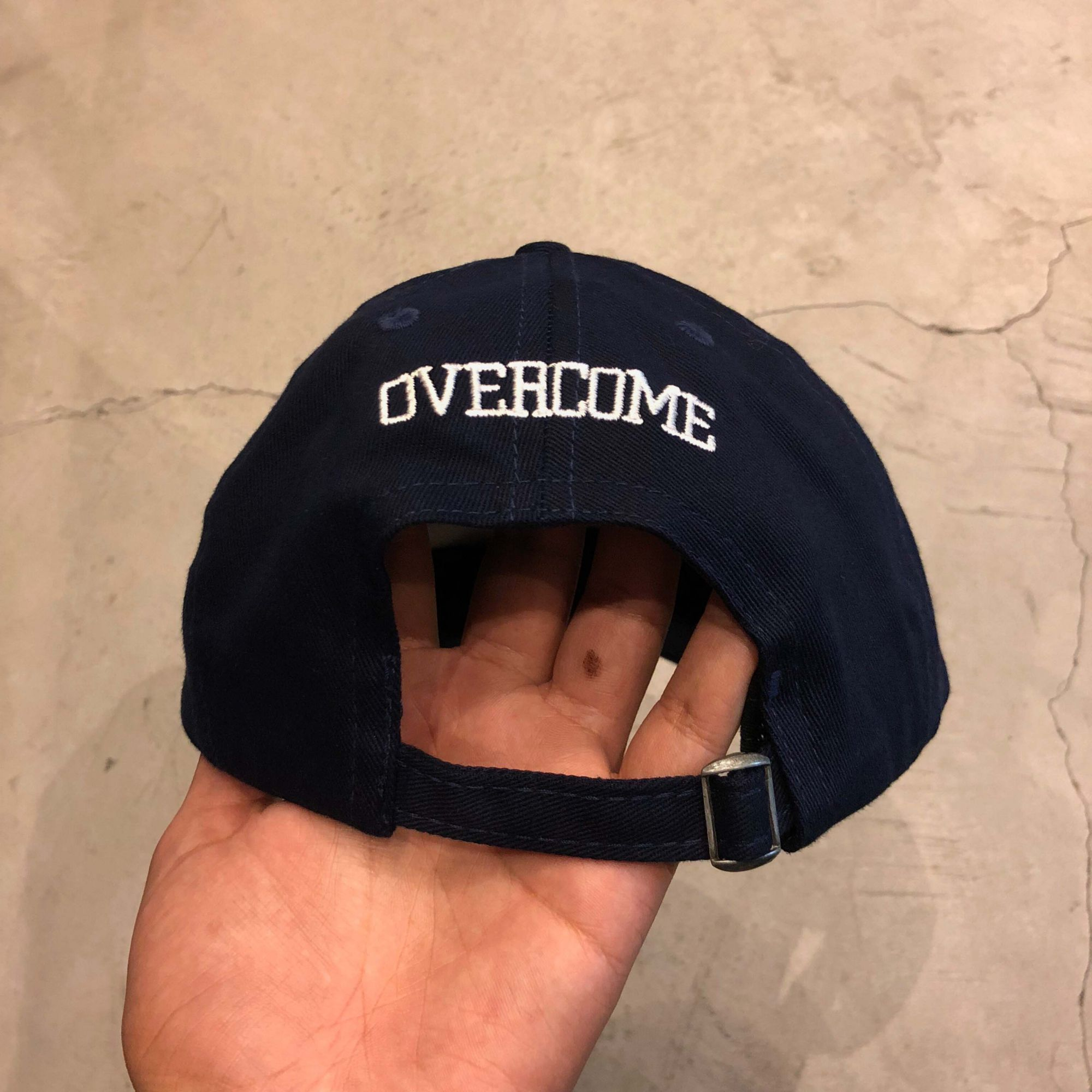 "Dad Hat Overcome ""Popping Pills"" Azul Marinho"