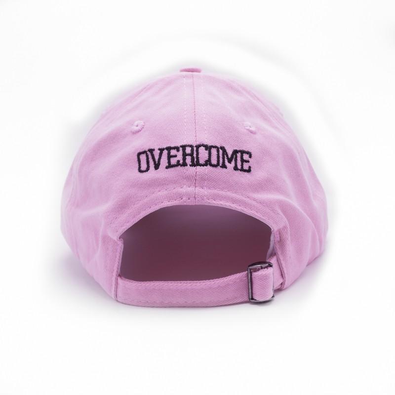 """Dad Hat Overcome """"Logo"""" Rosa/Preto"""