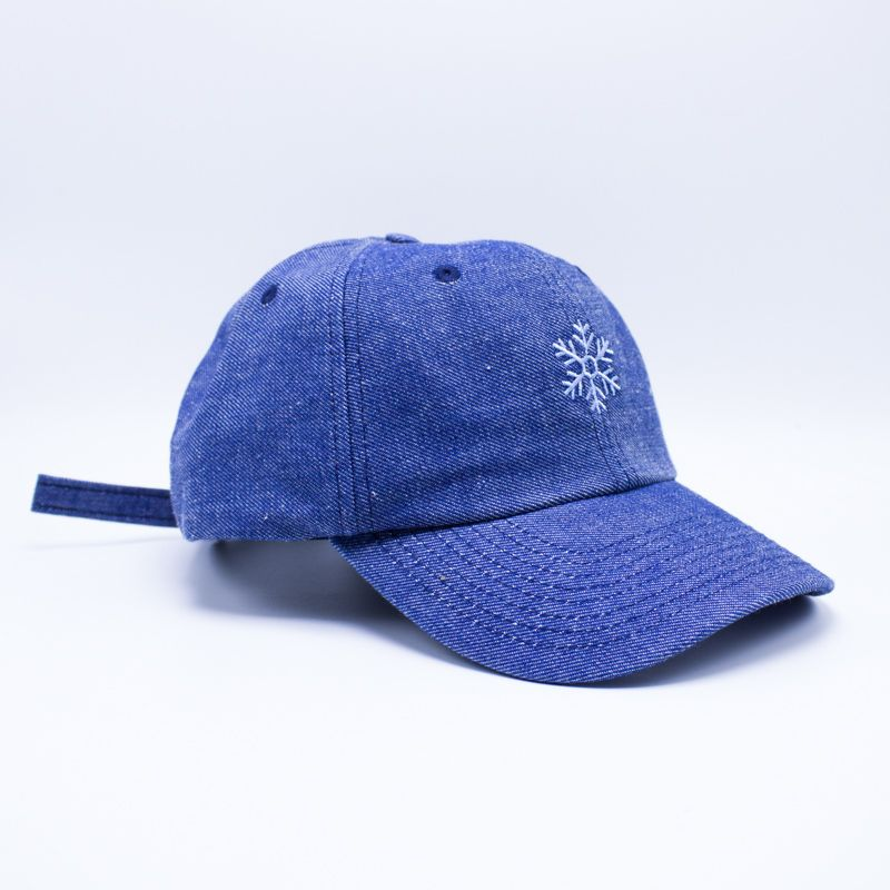 "Boné Dad Hat True Heart ""Floco de Neve"" Azul"