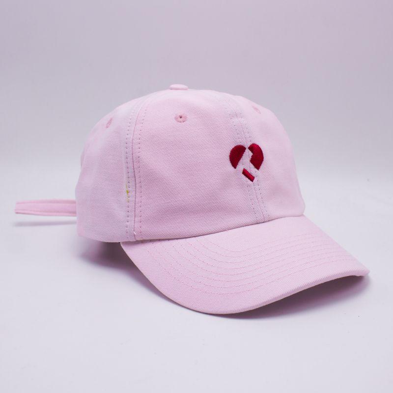"""Boné Dad Hat True Heart """"Logo"""" Rosa"""