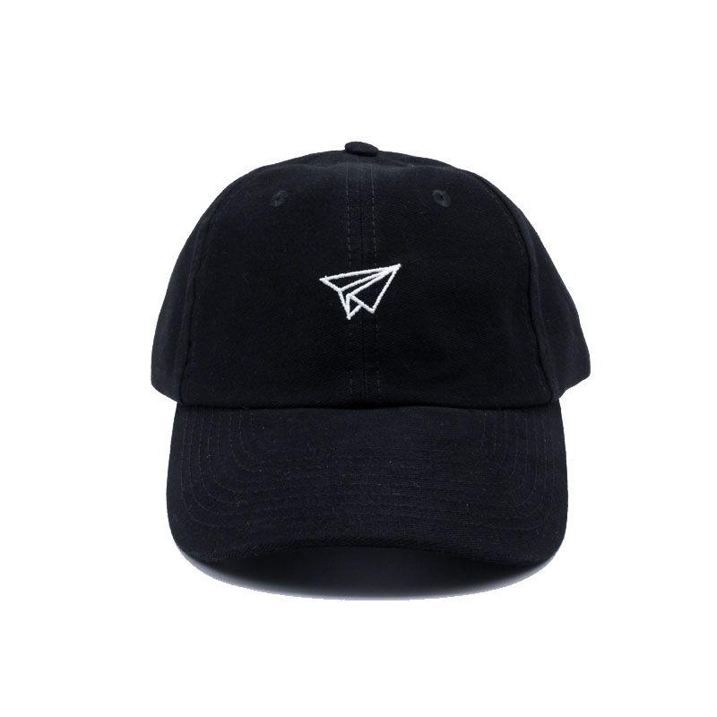 "Boné Dad Hat True Heart ""Avião"" Preto"