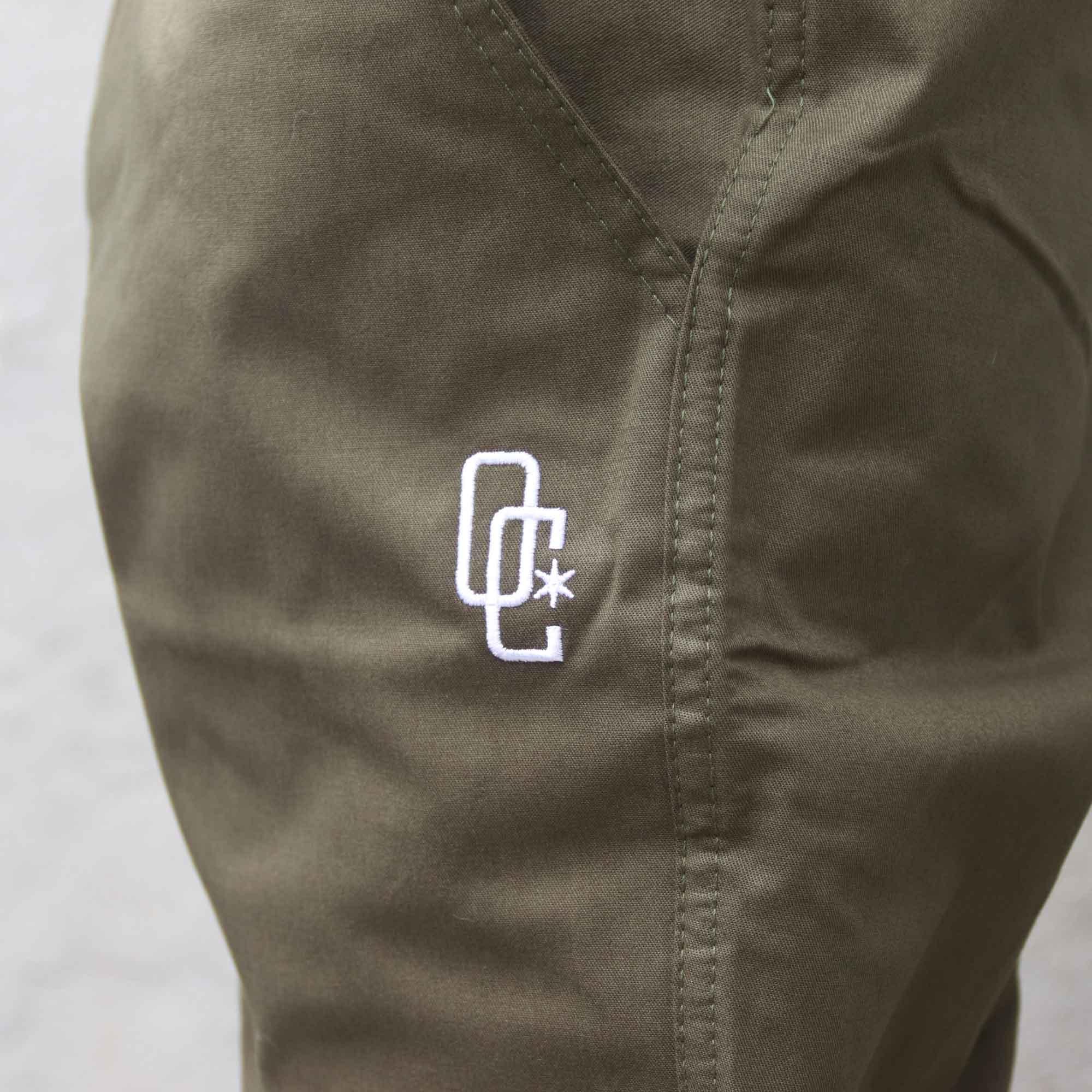 """Calça Jogger Overcome """"Logo"""" Verde Militar"""
