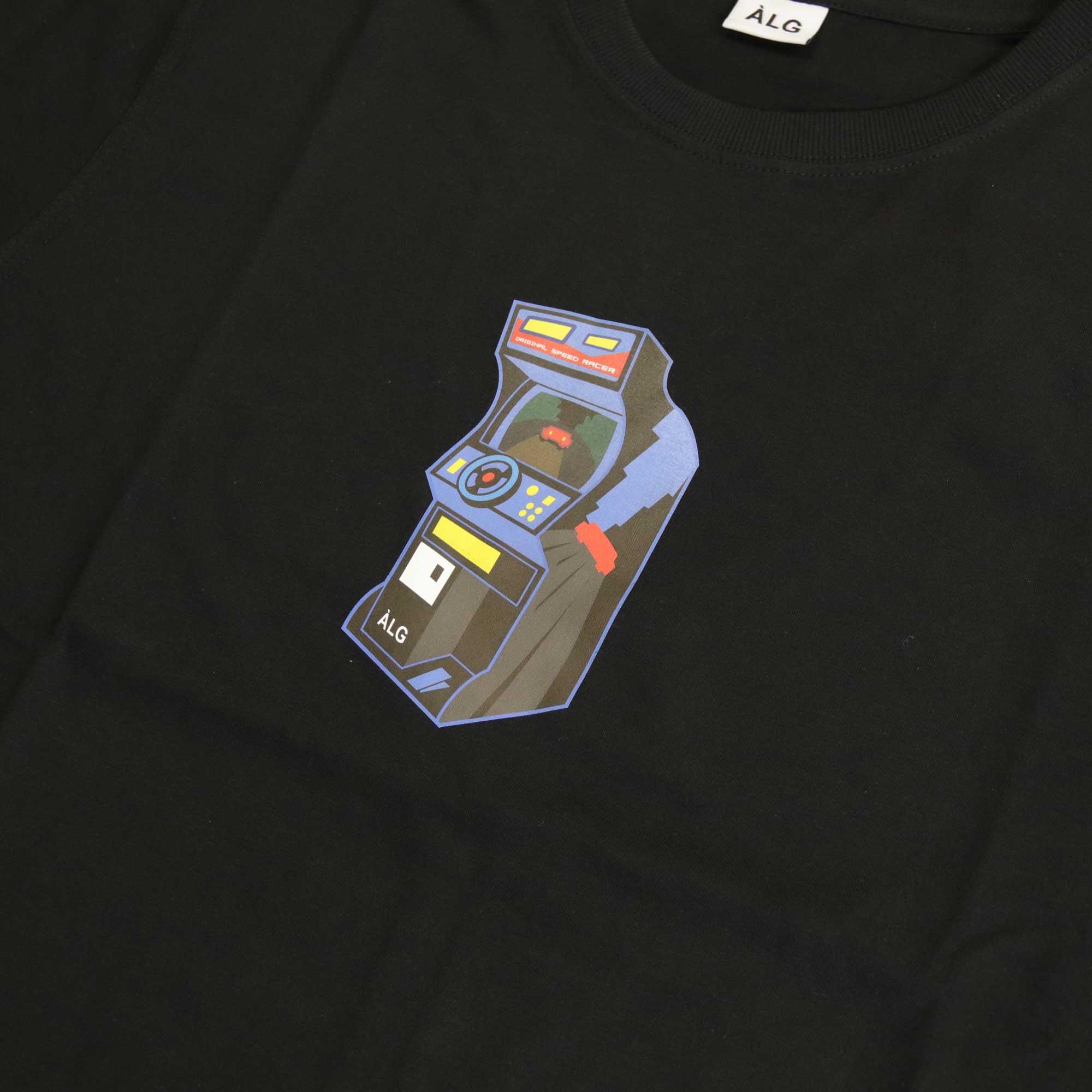 """Camiseta ÀLG """"Fliperama"""" Preta"""