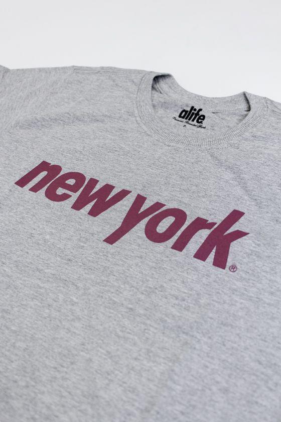 "CAMISETA ALIFE ""ALIFE NEW YORK"" CINZA"