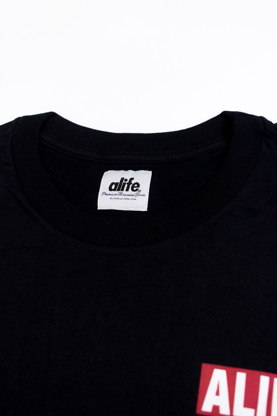 "CAMISETA ALIFE ""LONG SIZE ZIP RED"" PRETA"