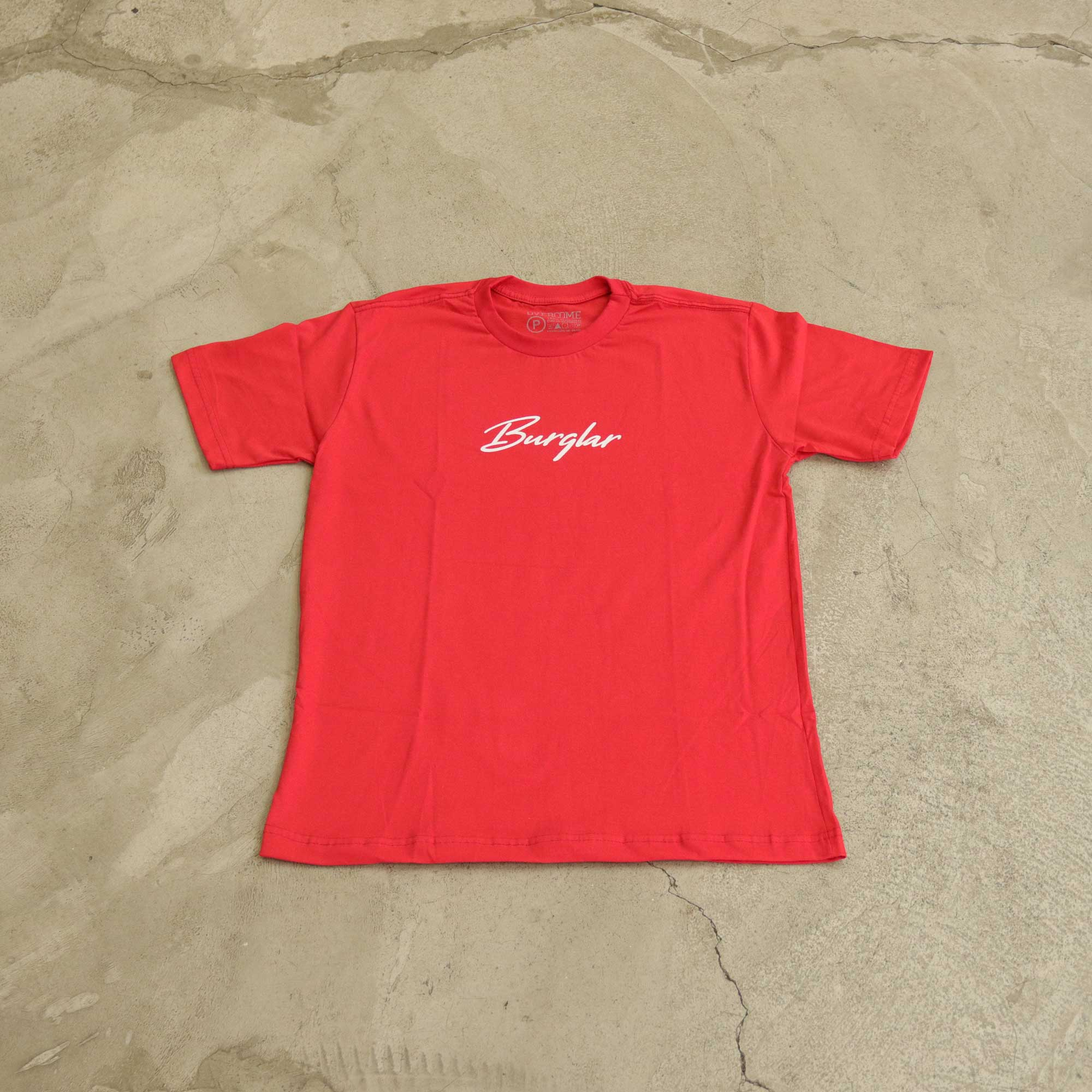 "Camiseta Burglar ""Logobox"" Vermelha"