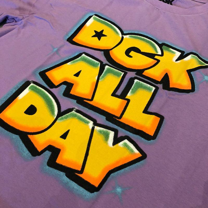 """Camiseta dgk """"All day"""" Roxa"""
